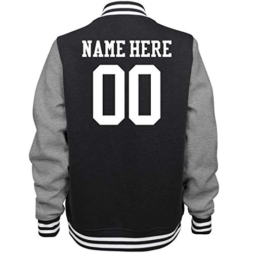Customized Girl Personalized Women's Varsity Jacket: Ladies Fleece Letterman Varsity -
