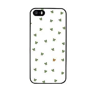 Funda carcasa TPU Gel para Apple iPhone SE estampado mariposas verdes borde negro