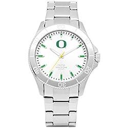 Oregon Ducks Men's Silver Dial Sport Bracelet Watch