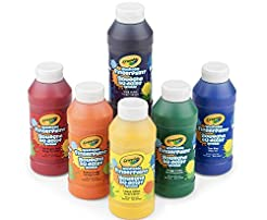 Crayola Washable Finger Paints, 6 Count,...