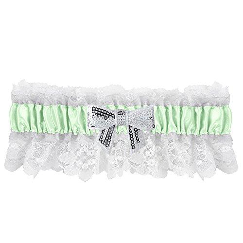 Ivy Lane Design Marilyn Sequin Bow Garter, Mint Green