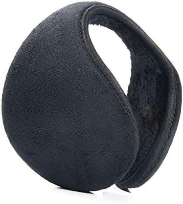 Czemo Oorwarmers voor dames en heren oorbeschermers voor de winter opvouwbaar instelbare maat zwart