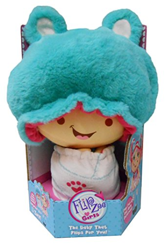Flip Zee Girls Zoey Snuggly Bear Sweet and Cuddly 2-in-1 Plush (Homemade Pooh Bear Costumes)
