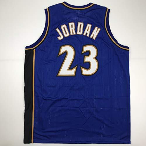 Unsigned Michael Jordan Washington Blue Custom Stitched Basketball Jersey Size Men