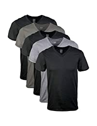 Gildan - Camiseta interior cuello-V Paquete de 5 para Hombres