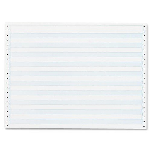 Sparco Computer Paper, 1/2-Inch Blue Bar, 20