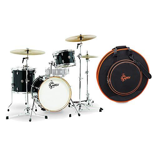 Gretsch Catalina Club Jazz 12/14/18 3pc Drum Kit Piano Black w/Free 24