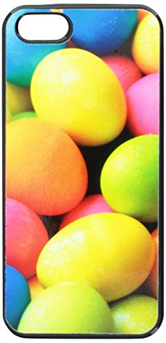 Graphics and More Colored Easter Eggs Snap-On Hard Protective Case for iPhone 5/5s - Non-Retail Packaging - Black
