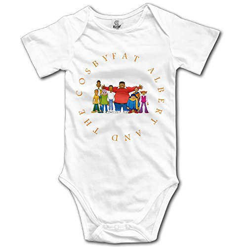 Grace Little Fat Albert And The Cosby Kids Unisex Fashion Infant Romper Baby Boy Play Suit 6 M White]()