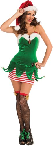 Secret Wishes Playboy Christmas Elf Costume, Multi, (High Elf Costume)