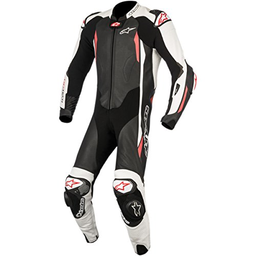 Alpinestars GP Tech Men's 1-Piece Street Race Suits - Black/White/Red / 54 by Alpinestars