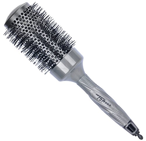 SUPRENT Nano Thermal Ceramic & Ionic Round Brush Barrel Hair Brush, 2 inch, Grey and Black Color, Add Hair Volume, for Hair Drying, Styling, Curling (Metal Travel Hair Brush compare prices)