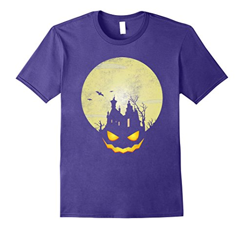 Scary Homemade Costumes Halloween (Mens Scary Halloween Costumes Shirt Funny Cute Pumpkin & Castle 2XL)
