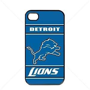 NFL American football Detroit Lions Fans Apple iPhone 4 / 4s TPU Soft Black or White case (Black)