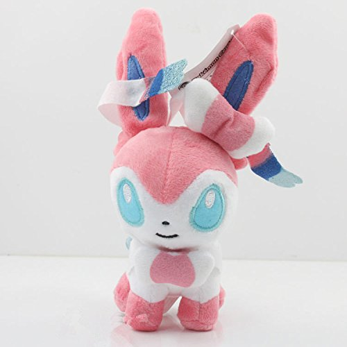 [5 inch, #700 Sylveon Fairy Eevee Mini Plush Toys Stuffed Doll] (Spawn Costume For Kids)
