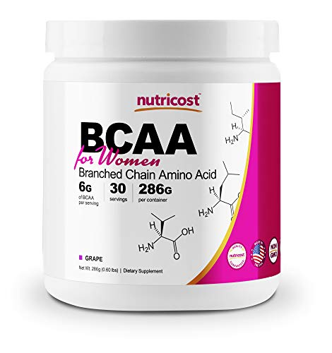 Nutricost BCAA for Women (Grape, 30 Servings) - Formulated Specifically for Women - Non-GMO and Gluten-Free