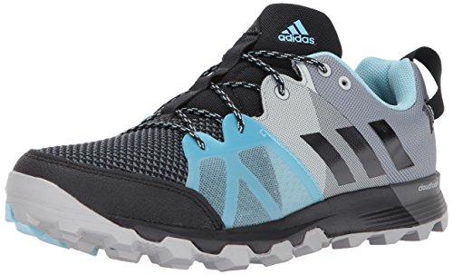 adidas outdoor Womens Kanadia 8.1 W Trail Running Shoe Black/Black/Icey Blue