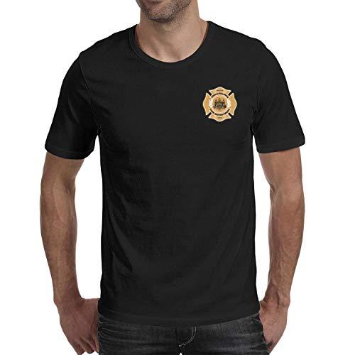 (DXQIANG Philadelphia Fire Department Design Mens Cool T Shirts Comfort Soft Tee)