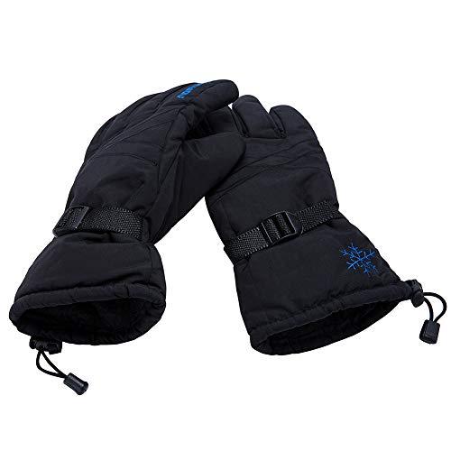 only U Winter Snow, Ski, Snowboard, Cold Weather Gloves Fashion Outdoor Gloves for Men & Women (Black)