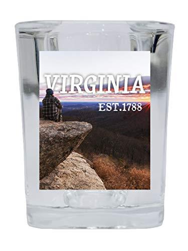 Virginia State Trendy Souvenir Square Shot Glass