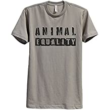 Thread Tank Animal Equality Men's Modern Fit T-Shirt Printed Graphic Tee