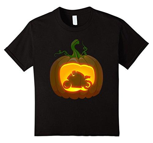Motor Racing Costume For Kids (Kids motorcycle racing shirt Pumpkin Halloween 4 Black)