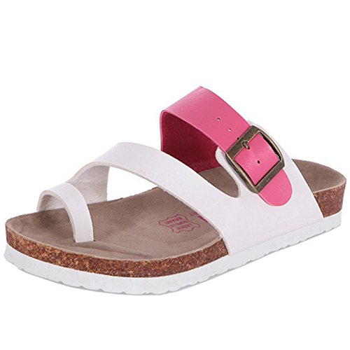 Openback Rose Red TAOFFEN Women Sliper Thongs Sandals Flip Slide Couple Flops Flat w7xqOZBH4