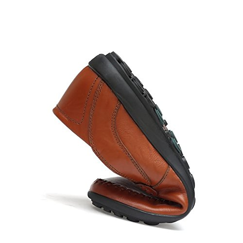 Meimei 40 pelle Hollywood shoes Light Mocassini Brown stile Dimensione EU con in leggeri fodera da uomo Color ZU1xZSn