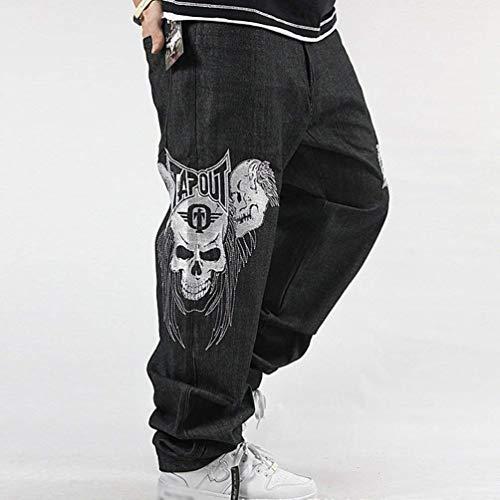 In Squisita Bassa Da Stampa Denim Casual Nero Vita Jeans Classiche Skull Uomo Ragazzi Con Donna Pantaloni Rigato A 47Oq5TxXwq