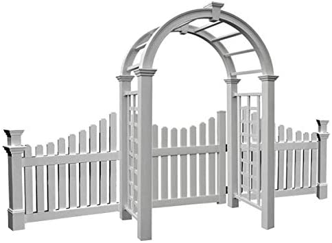 BestNest New England Nantucket Deluxe Arbor with Wings and Gate