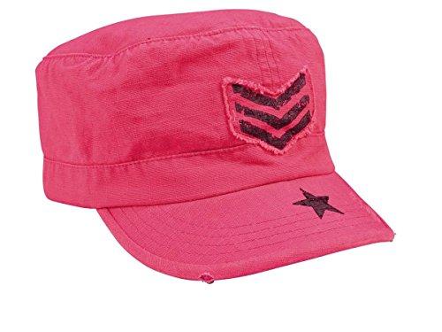 Womens Vintage Pink Sgt Stripe Fatigue Cap Vintage Adjustable Fatigue Cap