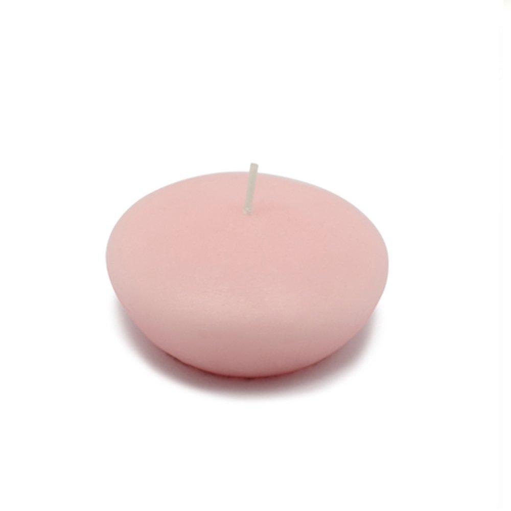 Zest Candle CFZ-047_12 144-Piece Floating Candle, 3'', Light Rose