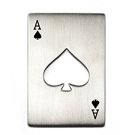 Willss Credit Card Size Casino Poker Shaped Bottle Opener (1)