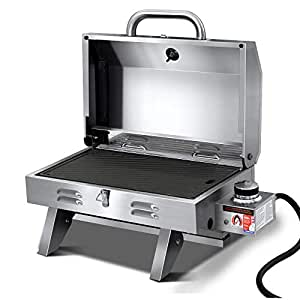 Grillz Portable Gas BBQ Grill Stainless Steel