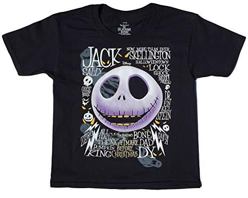 Disney Nightmare Before Christmas Boys Jack T Shirt (L -