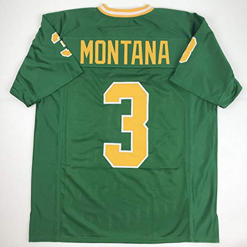 Unsigned Joe Montana Notre Dame Green Custom Stitched College Football Jersey Size Men's XL New No Brands/Logos -