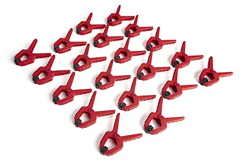 1-Inch Spring Clamp, 20-pack BORA 540520. Give yourself an extra hand with these tough polymer mini spring clamps.