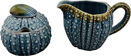 Blue Sky Ceramic Urchin Sugar and Creamer Set, 4