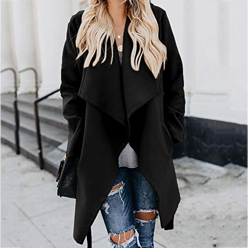 Amazon.com: Besde Womens Lapel Wool Trench Jacket Long Sleeve Solid Button Overcoat Outwear: Home & Kitchen