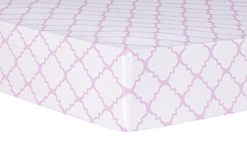 Trend Lab Orchid Quatrefoil Fitted