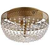 Estelle 3-Light 7.13 in. Flush Mount Champagne