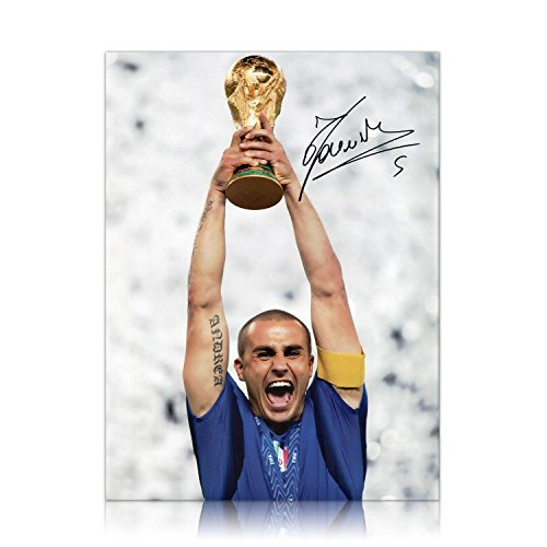 Fabio Cannavaro Signed Photo: Lifting The 2006 World Cup For Italy