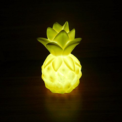 Staron LED Night Lights,3D Tropical Pineapple Indoor Light Romantic Night Table Lamp For Festival Party Christmas Bedroom Home Decor (Yellow) (Coffee Table Plans Outdoor)