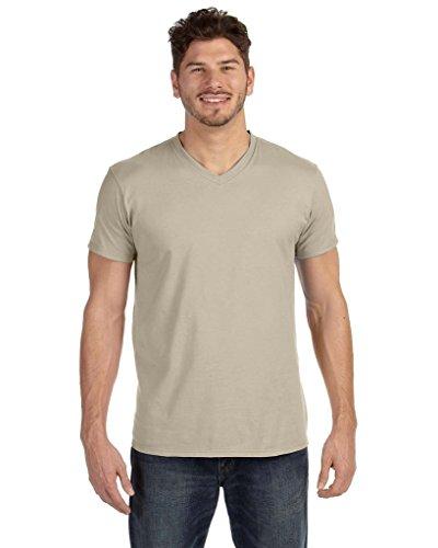 Hanes Mens Nano-T V-Neck T-Shirt_Vintage Khaki_XL