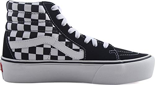 Vans Unisex Sk8 White Checkerboard hi Adulto Leather Zapatillas Reissue true O6OrqFn