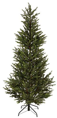 Star Christmas Tree Malung ca. 200 x 96 cm, PE with Metal Stand, Outdoor, Green (Pe Christmas Trees Uk)