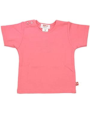 Petal Pink Organic Cotton Short Sleeve T-shirt