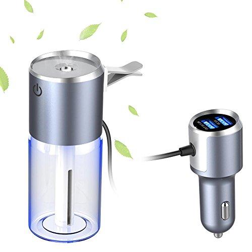 YCECLX - Humidificador de coche 50 ml difusor de aceite esencial, difusor de aroma fresco con cargador USB para coche, mini...