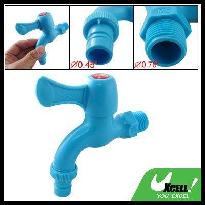 eDealMax plástico azul Inicio de baño Jardín Grifo de Agua - - Amazon.com