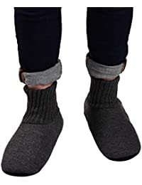 Fluffy Slipper Socks with Non Slip House Lined Socks Boat Super Cozy Hospital Slippers